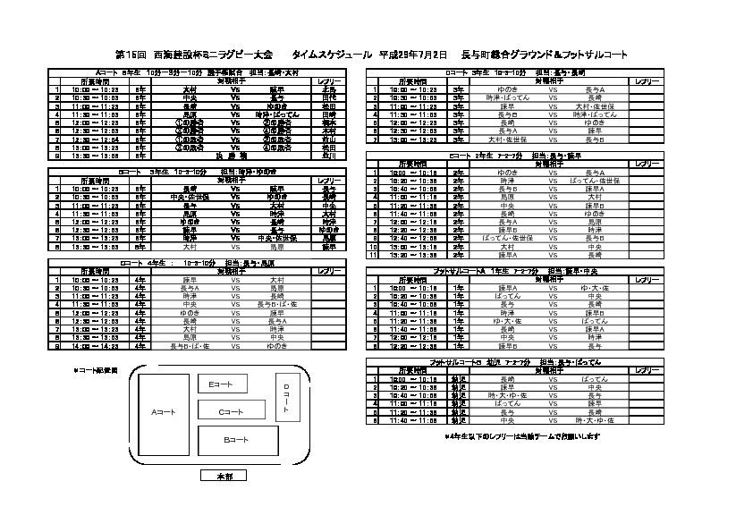第15回西海建設杯関連資料(H29年7月2日・長与町総合運動公園Gで開催)